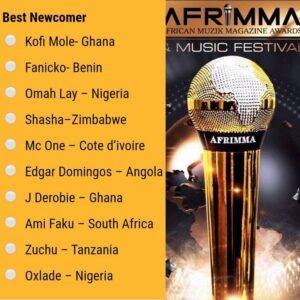 Fanicko nominé aux AFRIMMA 2020