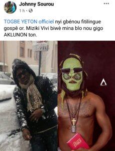 Tôgbè Yéton accepte la condition de Johnny Sourou