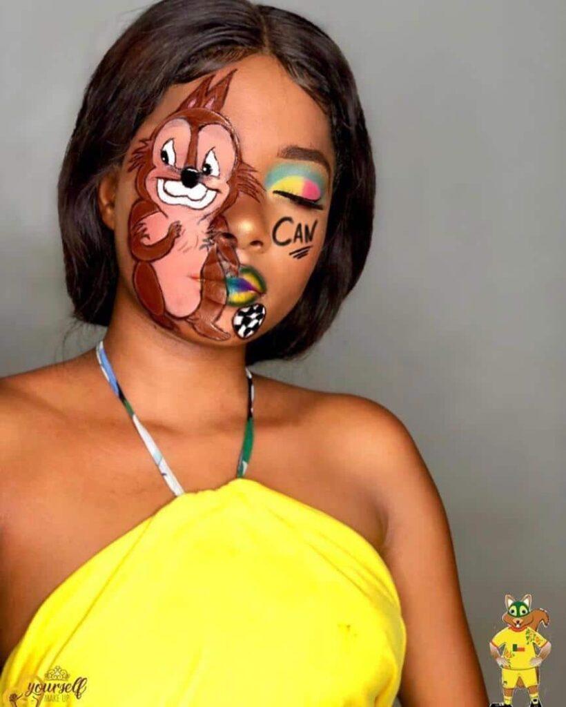 Menadèle, la maquilleuse Béninoise